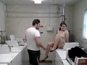 ashtonishing has sex in laundry room