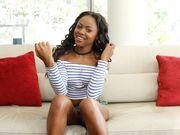 Black beauty blows on POV casting