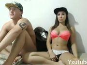 teen couple fucks on webcam