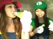 Spiderlily and 8bit Mario Bros [20111031_2132_48.avi]
