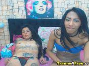Tranny Babe Fuck Horny Girl On Cam