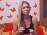 AngelsCourtney - blue sports-bra top