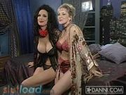 Danni Ashe - in bed with Julie Strain