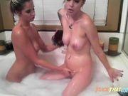 Hot lesbos do a bubblebath webcam show 2
