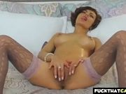 French MILF fingering her slit for her viewers