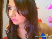 Latina with natural tits teasing