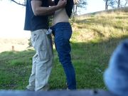 Amateur couple outdoor adventure