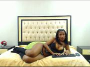 Phat booty ebony chubby milf chatting on the webcam and showing her ass 2