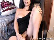 Tasty Big Boobs Camgirl Makes Herself Pleasure