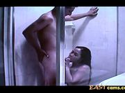 Cute Asian babe with hot ass enjoys hard in shower 2