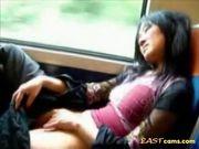 Asian bitch in bus 2