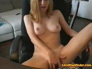 Naughty little blonde teases