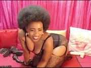 Beautiful afro mature on cam