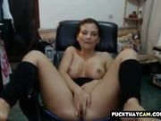 Mother almost gets caught by son getting nasty on livecam 2