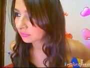 Latina with natural tits teasing 3