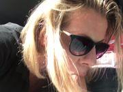 Slutty Samantha car blowjob