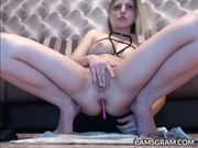 Anal Dildo Play For Excited Teen Hottie