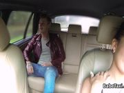 Teen fucks on backseat of taxi