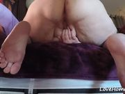 Fat wife gets a hard pussy pounding from behind
