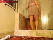 Shower And Pole Dancing On Webcam