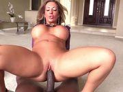 Richelle gets worshiped black huge cock