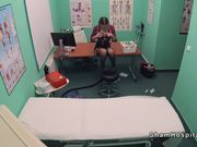 Blonde cleaning lady fucks doctor