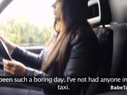 Black dude nailed female taxi driver