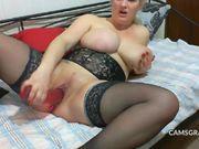 Warm Big Tits Cammodel Fucks Gash With Sextoy