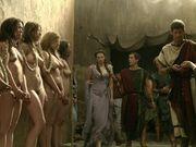 Nude Slave Girls in Street
