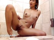 AlohaAli/HawaiianAli - Shower Solo Masturbation