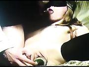 Amateur wife  blindfolded slut squash insertion