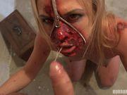 horror la chica con la cortada