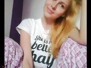 Gorgeus blonde with pijama (no sound)