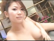 Six sexy japanese women invites a guy to massage orgy!