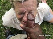 Stewart drinks piss then sucks off a HUGE Black Cock