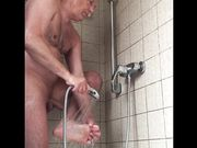 Mature Solo Guy Taking a Shower