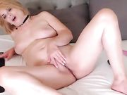 sensual mature blonde on cam