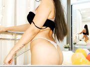 Niyami naughty lingerie showoff