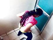 Ladies public toilet hidden cam