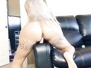 Brittanya Razavi rides a dildo