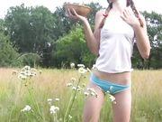pretty girl gets excited farm - osirisporn.com to watch