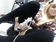 HighSchool Blonde Teen Plays With Pussy For First Time