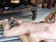 "Cindy Starfall and blonde in ""Evan tries nuru massage"""