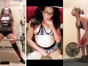 Nerdy Latina Girlfriend Slut Workout Cumpilation