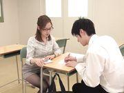 デカ尻先生の 問題が解けなかったら強制発射 またがり補習でどんどん成績が下がり続けるボク… 篠田ゆう