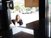incredible downblouse from generous girl at dunkin donuts