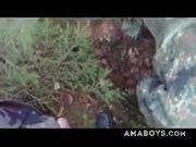 Str8 German soldiers first time swallow cum