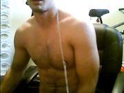 Amatuer Lad on Webcam Wanks and Eats Own Cum
