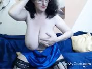 Webcam - 46 year old mature with huge tits teasing