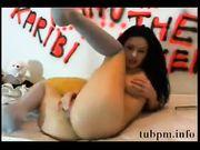Lustful babe webcam self masturbation 1